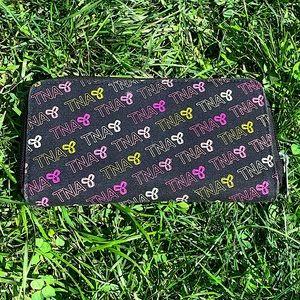 TNA multicolour monogram zipper wallet